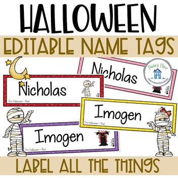 Halloween - Name Tags Editable
