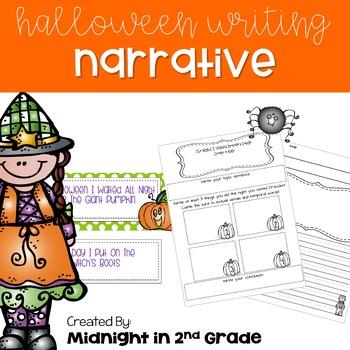 Halloween Narrative Writing Common Core Aligned