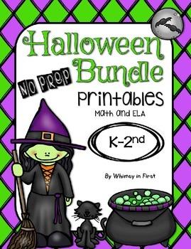 Halloween No Prep Printables Bundle