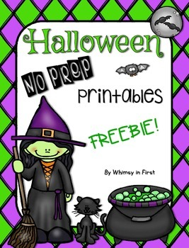 Halloween No Prep Printables FREEBIE