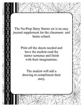Halloween No-Prep Story Starter Sentence Printable Set (bl