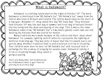 Halloween Nonfiction Text
