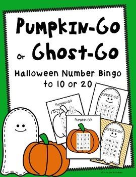 Halloween Number Bingo Math