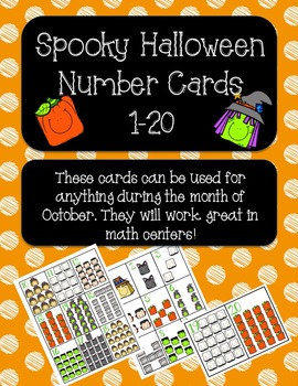 Halloween Number Cards 1-20