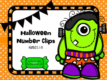 Halloween Number Clip Card Activity