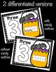 Halloween Number Concept DIFFERENTIATED Playdough Mats 0-20