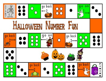 Halloween Counting Game