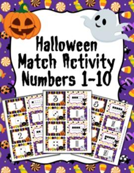 Halloween Number Match Activity
