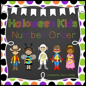 Halloween Kids Number Order