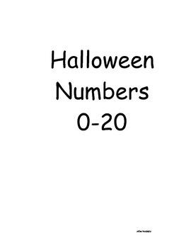 Halloween Number Practice 0-20