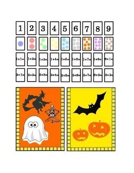 Halloween Number Recognition Glue Hole Punch Staple Kinder
