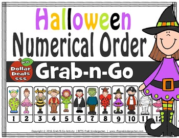 Halloween Numerical Order (Grab-n-Go $1 Deal)