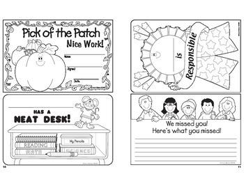 Halloween October Certificates Grades PK-5
