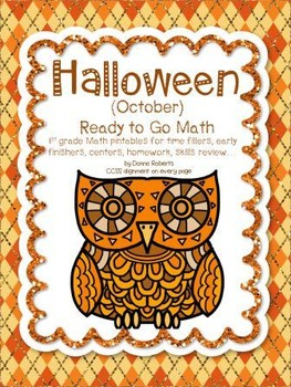 Halloween (October) Math for time fillers, early finishers