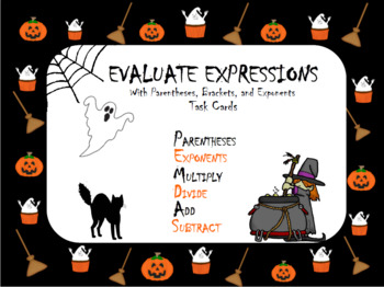 Halloween Order of Operations with Brackets, Parentheses,