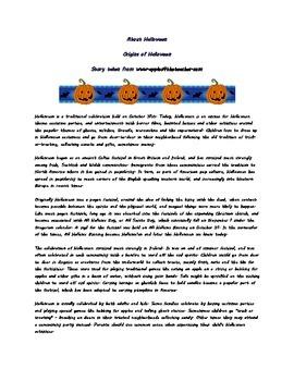 Halloween Origins and Safety