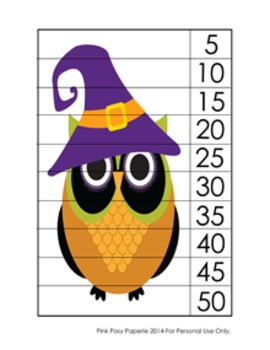 Halloween Owl Number Counting Strip Puzzles - 5 Designs -
