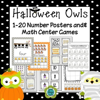 Halloween Owls & Candy Corn Math Fun for K-1