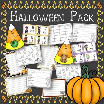 Halloween Pack Math and Language Arts Centers and Activities