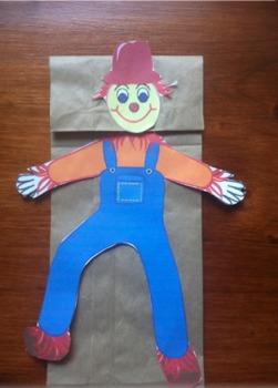 Halloween Paper Bag Puppets! (Scarecrow, Pumpkin & Mummy) 3 in 1!