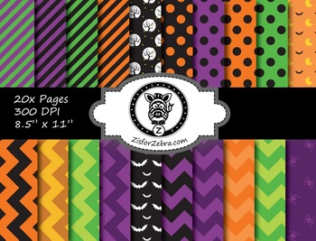 Halloween Paper Pattern Pack 3 - 20 pages - Commercial OK