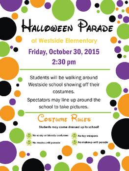 Custom Halloween Parade Flyer