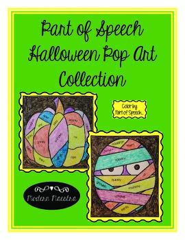 Halloween Part of Speech Pop Art