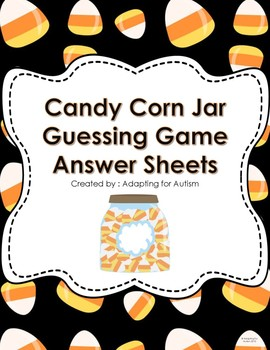 Freebie!  Halloween Game: Guess the number of candies in the jar