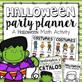 Halloween Party Planner {A Halloween Math Activity}
