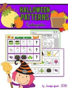 Halloween Patterns Center & Worksheet- FREE!