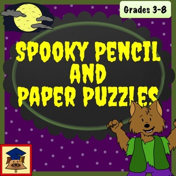 Halloween Pencil and Paper Puzzles