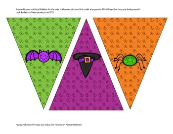 Halloween Pennant Banner with pictures