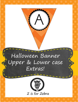 Halloween Pennant/ Bunting 3 - Uppercase and lowercase let