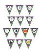 Halloween Pennant/ Bunting 4 - Uppercase and lowercase let