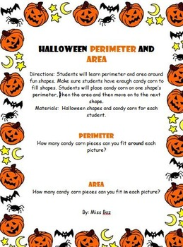 Halloween Perimeter and Area