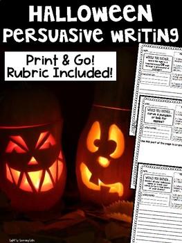 Halloween Persuasive Writing Prompts