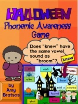 Halloween Phonemic Awareness & Spelling Patterns Game