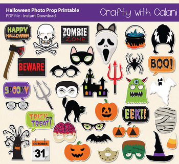 Halloween Photo Booth Prop, Fall's Holiday Party Printable