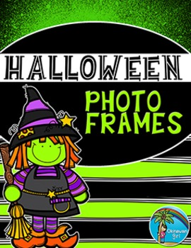 Halloween Photo Frames {personalize with message on reverse}