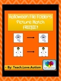 Halloween Picture Match File Folder- FREEBIE