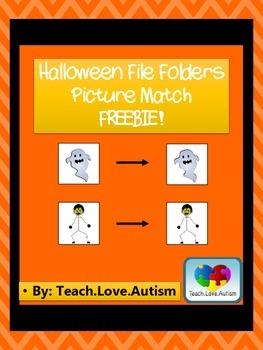 Halloween Picture Match File Folder