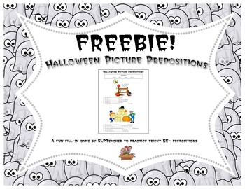 Halloween Picture Prepositions Freebie