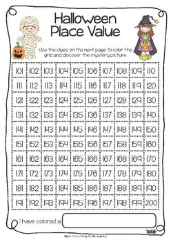 Halloween Place Value FREEBIE