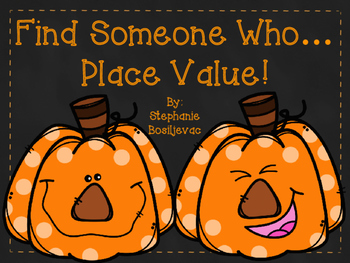Halloween Place Value Find Someone Who