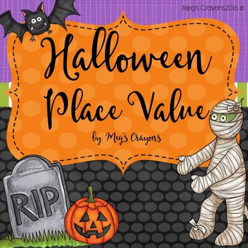 Halloween Place Value with Talking QR codes!