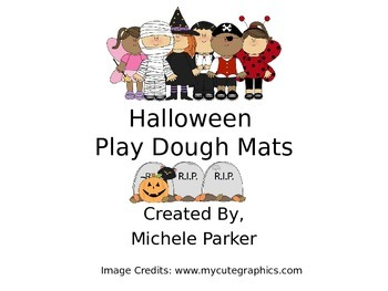 Halloween Play Dough Mats/Play-Doh/Playdough FREEBIE
