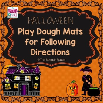 Halloween Play Dough Mats for Following Directions