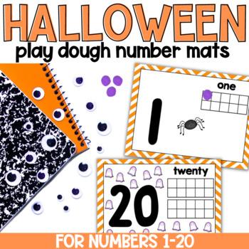 Halloween Play Dough Number Mats 1-20