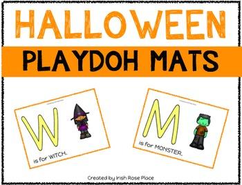 Halloween Playdoh Mats