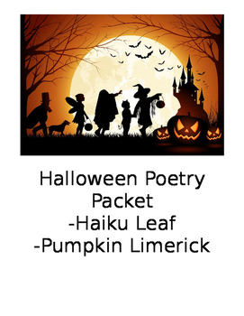 Halloween Poetry Packet